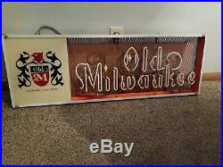 (VTG) 1962 Old Milwaukee Beer Neon light up bar Sign schlitz brewery wi rare