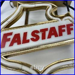 Vintage 1950s Falstaff beer Neon light up bar sign game room man cave