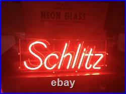 Vintage 1977 Schlitz Beer Neon Sign Bar Advertising Milwaukee Wisconsin Rare