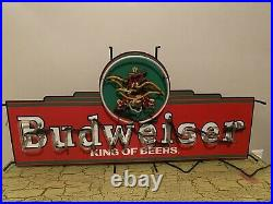 Vintage 4 Budweiser King Of Beers Neon Sign