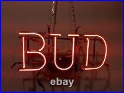 Vintage Anheuser Budweiser BUD Neon Beer Sign Franceformer Everbrite USA 90s