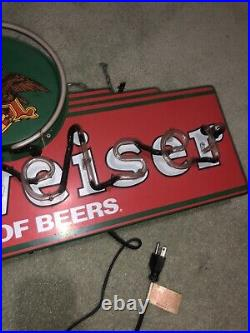 Vintage Budweiser King Of Beers Neon Sign Eagle Logo Updated Dimensions In Descr