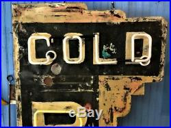 Vintage Cold Beer Neon Sign Tall Shipping Available