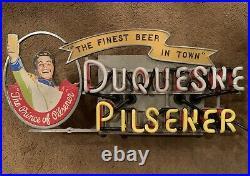Vintage DUQUESNE PILSENER Neon Beer sign Lackner