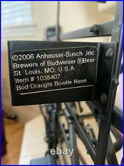 Vintage Genuine Anheuser-Busch Budweiser Beer On Tap Neon Sign 2006 USA