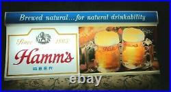 Vintage Hamms Beer Sign 50x16x6 rare neon mancave bar pub garage lighted light