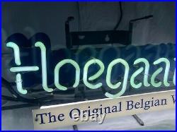 Vintage Hoegaarden Belgium Beer Neon Light Sign Bar Club Man Cave