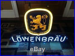 Vintage Löwenbräu (Lowenbrau) Neon Beer Sign (Light)