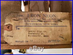 Vintage Neon Sign Crate UTICA CLUB Beer Ale Bar Light Newburgh NY New York WORKS