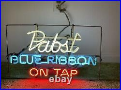 Vintage Pabst Blue Ribbon Neon Light Beer Sign Works Perfectly