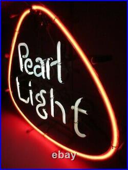 Vtg authentic PEARL LIGHT BEER Neon Sign / Bar Light TEXAS lone star shiner