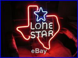 (vtg) Lone Star Beer Sign Neon Light Up Original Old Texas Tavern Bar Pub Neon